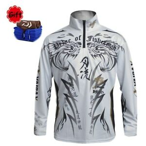 New Mens Daiwa Clothes Long Sleeve Jersey Fishing Breathable Quick Dry
