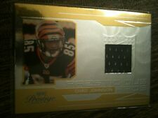 "2007 PLAYOFF GOLD ""PRESTIGIOUS PROS"" #PP37 CHAD JOHNSON GU JERSEY PATCH /50!!!!!"