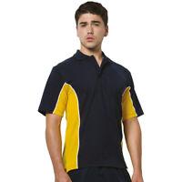 Gamegear KK475 Mens Track Polo T-Shirts Contarst Short Sleeves Collar Tshirt Top
