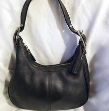 Coach E23-9342 Leather Hobo Purse Handbag  Bag Black Pocketbook