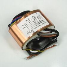 115V/230V 30W r-core à blindage transformateur pour amp amplis dac 12V+12V 9V+9V