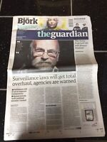 Terry Pratchett Obituary Front Page Author Newspapers The Guardian 13/03/2015
