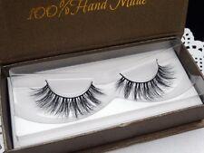 3D Long-Lasting Mink False Eyelashes Fake Long Black Lash Top Wispies Extension