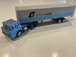 Vintage Yatming Diecast Transcon Semi truck trailer 1:87 Ho Scale-Read