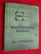 1958-1959 FWD Maintenance Manual Model 6-459-D with Cummins H & NLT Engines