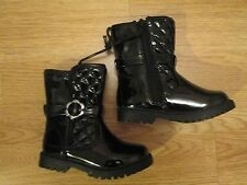 Gorgeous toddler girls patent black boots - F&F -  Brand new - infant size 5