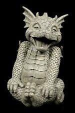 Gartenfigur - Drache Laughy - Gartendeko Fantasy Drachenbaby