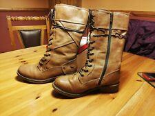 Mustang Womens fleece padding Knee High Winter Boots color tan UK Size 5