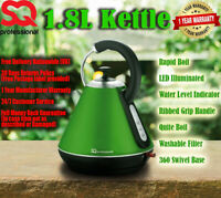 1.8L Cordless Jug Electric Kettle Tea Coffee Rapid Boil Wide Spout D Green 2200W