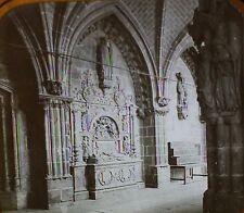 Renaissance Tomb in Cloister, Burgos Cathedral, Spain, Magic Lantern Glass Slide