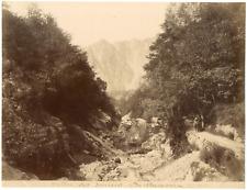 France, Vallée de Sources Vintage albumen print, Tirage albuminé  21x27