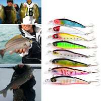 HB- AU_ 1 Pc Fishing Lifelike Hard Fishing Lures Crankbaits Hooks Minnow Baits T
