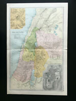 Antique Map Of Palestine  1904