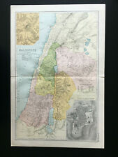 Antique Map Of Palestine  1904