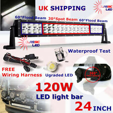 24Inch 120W 40 Led Light Bar Spot Flood Combo Work Lamp For 4x4 patrol 4WD