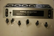 Nos Clarostat Power Resistor 240 C Decade Face Plate Bezel Amp 6 Oem Knobs