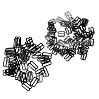 200Pc Metal Black Lingerie Hardware Sewing Clip Hook Eye for Bra Straps 10mm