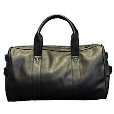 New Mens PU Leather Duffle/Gym/Travel Bags Black Handbag Large Shoulder bag