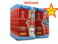 Panini 2018 FIFA Russia World Cup Trading Cards ADRENALYN XL Sealed Packs x 5