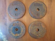 "4 (FOUR) - 10 (TEN) POUND LB 8"" THOR DUMBBELL WEIGHTS CAST IRON LIFTING VINTAGE"