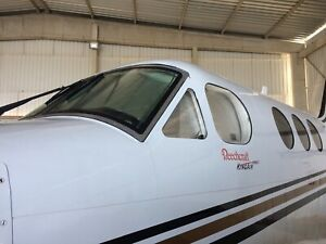 SUNSHIELD SUNSHADES FOR AIRCRAFT - KINGAIR C90 - FULL CABIN (11 or 15 pieces)
