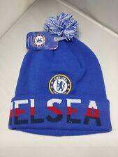 Chelsea Football Club Blue Color Cuffed Beanie 47 Brand With Pom Pom