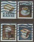 Scott #5569-72 Used Set of 4, Espresso Drinks (Off Paper)