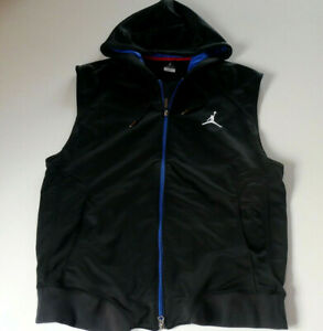 Nike Air Jordan Gr. L ärmellose Jacke / Trainingsjacke / Weste - schwarz -
