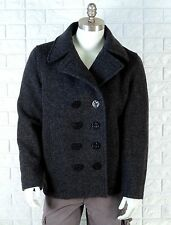 Men's Spiewak & Sons Wool Blend Double Breasted Pea Coat M Medium Charcoal Gray