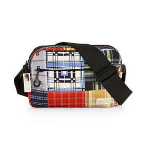 Ganni Responsible Tech Fabric Bag Patchwork Plaid Crossbody NWT MSRP $115
