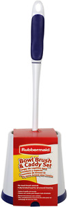 Rubbermaid Comfort Grip Toilet Bowl Brush and Caddy Set, Soft Rubber FG6B9900