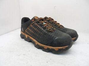 Timberland Pro Men's Powertrain Sport AT Work Shoes A1RV3 Black/Orange 12W