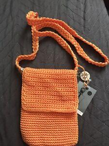 The sak Crochet Orange Handbag