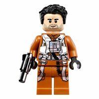 LEGO Poe Dameron Star Wars Jumpsuit Minifigure Hair Blaster Pilot Episode 7