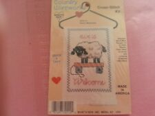"EWE'S WELCOME by Country Wireworks cross stitch craft kit - 3""W x 4""L w. hanger"