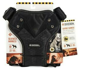 Sherpa DOG Seatbelt Harness XL Black - Fits Chest Size 22-50 IN. Crash Tested