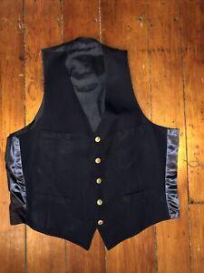 VINTAGE Reading RAILROAD Co. Train UNIFORM worker VEST Pa Penn Garment Buttons