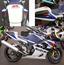 04 Suzuki White / Blue GSXR 1000 Second Look Seat Covers / Logo Skins NEW! 2004