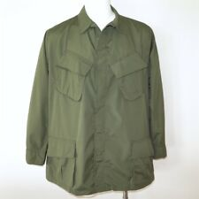 VINTAGE ORIGINAL 1969 US ARMY JUNGLE COMBAT JACKET RIP STOP OG107 VIETNAM XL NOS