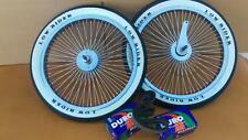 *LOWRIDER LOGO 20x1.75 Brick Pattern White Wall Tires Tubes BMX Wheels 140 Spoke