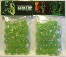 2 Bags Of The Incredible Hulk TV Show Promo Marbles