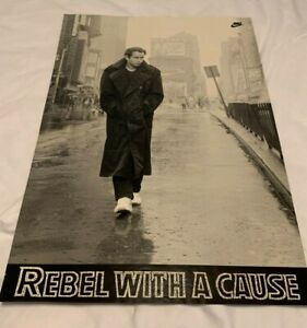 Original 1989 John McEnroe Nike Poster Rebel With A Cause Unframed Small Tear