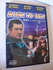 BORN TO WIN, ROBERT DE NIRO, KAREN BLACK, GEORGE SEGAL, DVD