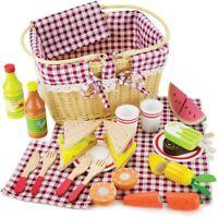 Imagination Generation Slice & Share Picnic Basket - Wood Food Playset 34pcs