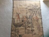 wall hanging tapestry made in france  Family Outing With Dogs. 50 Inch X 37 Inch