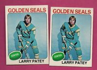 2 X 1975-76 TOPPS # 137 SEALS LARRY PATEY ROOKIE NRMT+ CARD  (INV#2294)