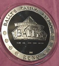 Bally's Casino 1.25 Oz Troy Oz .999 Fine Silver Gallery Of Gold 1 & 1/4 Ounces