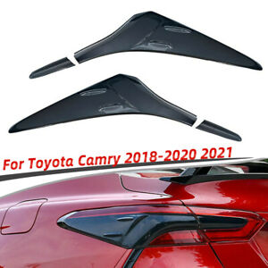 4pcs For Toyota Camry 2018-2020 2021 Black ABS Rear Tail Light Lamp Trim Covers