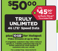 Preloaded Simple Mobile SIM Card+$50 plan - Unlimited text/talk/LTE data 30 days