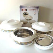 Cake Stand 2 Tier & Oval Platter Pink & White Set Bone China